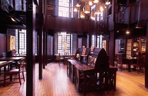 Wooden Interior of Glasgow School of Art