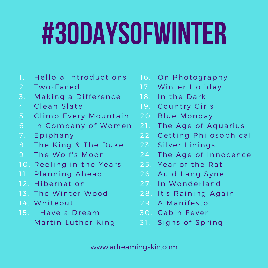 30 Days of Winter_2020_prompts